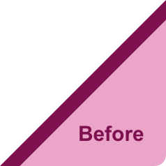 Before makeover text image